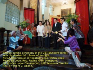 ADC dancers with dignitaries during opening ceremony of exhibit