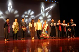 The performers of Water Symphony with Ambassador Belinda Ante and dignitary from Lao PDR.