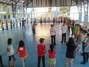 The covered court of Kalumpang Elementary school was the venue of Likhhang Sining Bayan: Pangalay workshop 2016