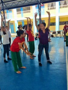 Warm-up exercises before the dance lessons